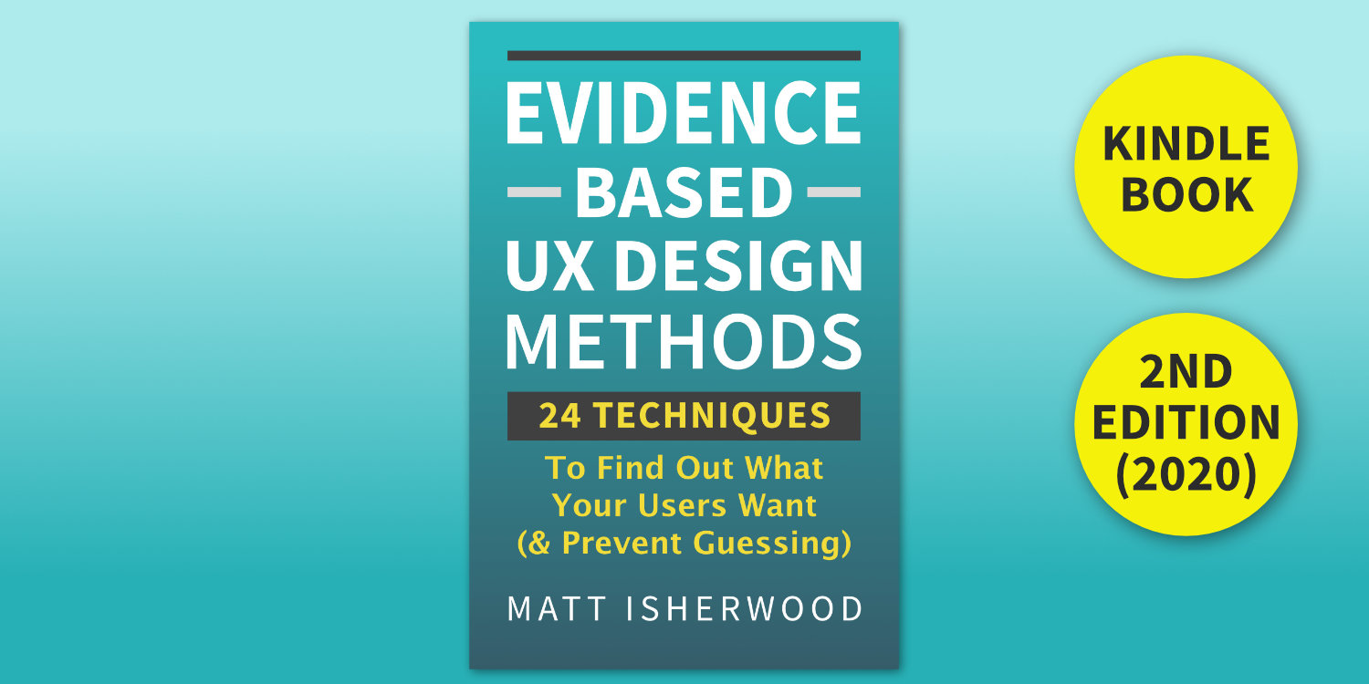 Evidence-Based UX Design Methods Kindle Book cover