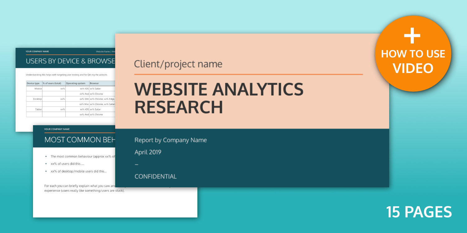 Website Analytics Research Template