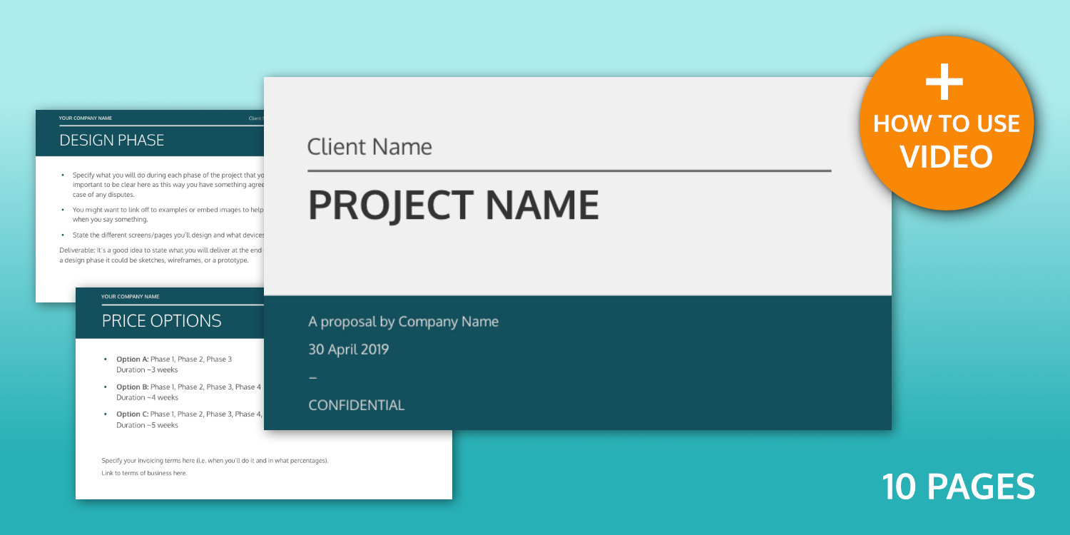 UX Design Project Proposal Template