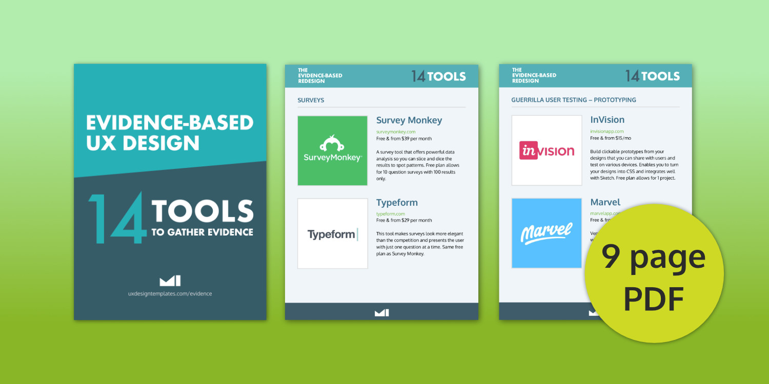 Free evidence-based UX tools guide